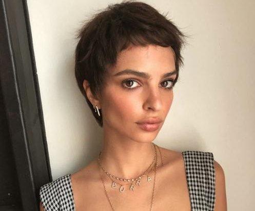 Emily Ratajkowski debuts short hair ahead of Met Gala