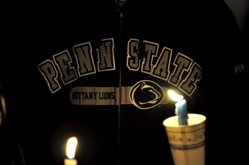 Penn State students hold vigil for victims