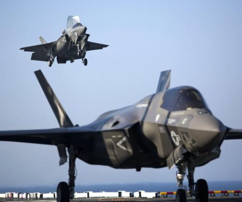 USMC F-35Bs undergoing shipboard operational tests