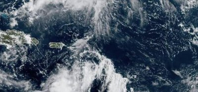 Karen barely holding tropical storm-strength in Caribbean