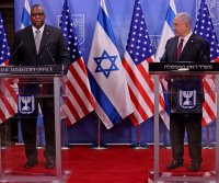 Pentagon chief Lloyd Austin meets with PM Benjamin Netanyahu in Israel