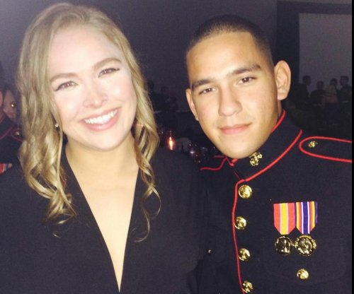 Ronda Rousey makes good on promise, attends Marine Corps Ball