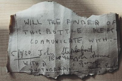 Author of 82-year-old message in a bottle identified by daughter