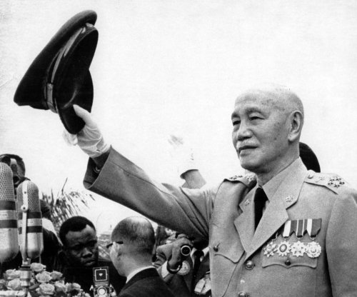 Chiang Kai-shek heads for exile