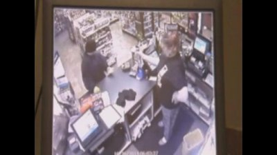 Watch: Robber bugs clerk, gets sprayed with Raid