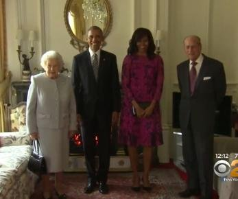 President Obama, Michelle Obama have lunch with Queen Elizabeth
