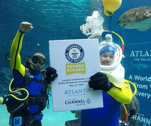 Radio presenter hosts world's longest underwater radio broadcast