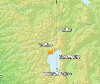 3.5 magnitude earthquake felt near Lake Tahoe