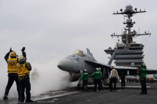 Stennis joins Lincoln as second carrier strike group in Mediterranean