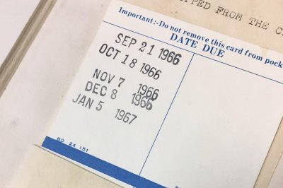 Book returned to New Jersey library 50 years past due date