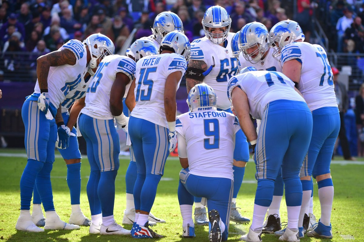 Detroit Lions Rick Wagner Travis Swanson out vs Chicago Bears