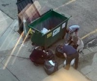 Bank employees climb into dumpster to search for wedding ring