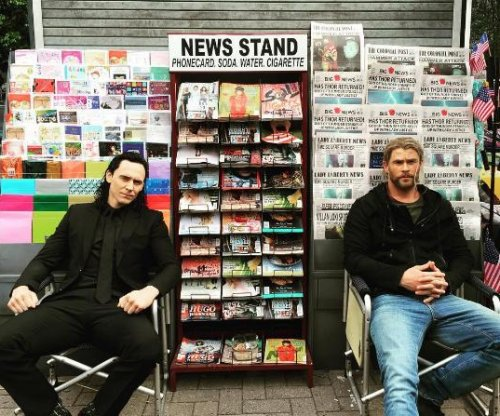 Chris Hemsworth, Tom Hiddleston reunite on 'Thor: Ragnarok' set