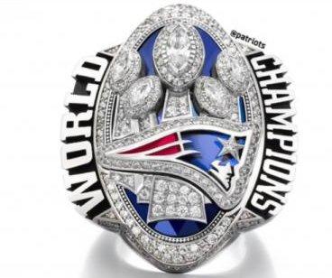 New England Patriots troll Atlanta Falcons: 283 diamonds put in Super Bowl ring