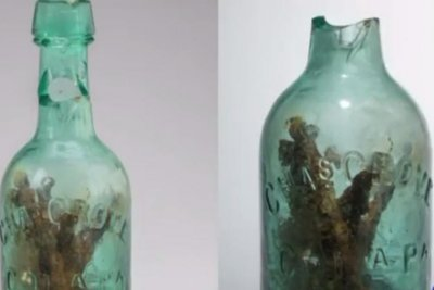 Civil War era 'witch bottle' found under Virginia highway median