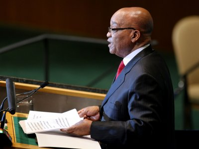 Jacob Zuma painting on trial in S. Africa