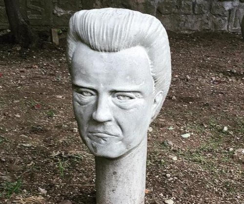 Concrete Christopher Walken heads greet visitors at 'Monument to Walken'