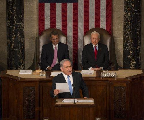 Israeli Prime Minister Benjamin Netanyahu speaks to Congress