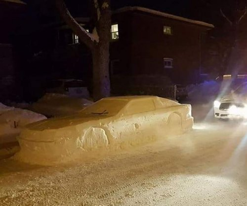 Canadian man gets parking ticket for 'car' made of snow