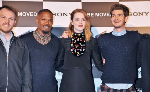 Emma Stone, Andrew Garfield and Jamie Foxx play 'never have I ever' on 'Ellen'