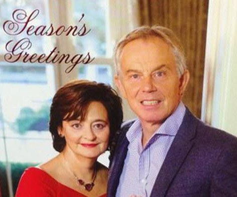 Tony Blair's Christmas card mocked on social media