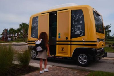 Self-driving company stops school bus runs after NHTSA orders halt