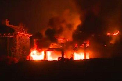 Crews battle 2 wildfires along California-Nevada border; 1 dead