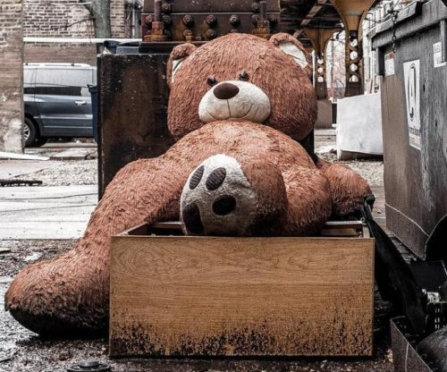 Owners rescue giant teddy bear from trash heap after photos go viral