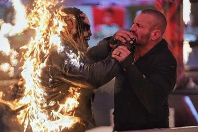 WWE TLC: Randy Orton sets The Fiend on fire
