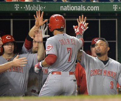 Suarez leads Cincinnati Reds past Washington Nationals