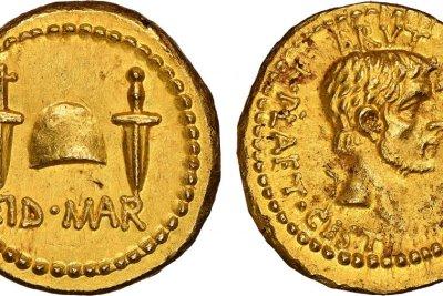 Julius Caesar assassination coin auctioned for record $3.5 million