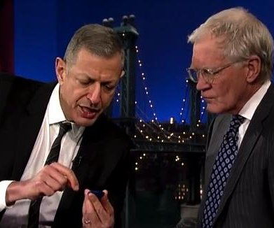 Jeff Goldblum explains what a Fitbit is for David Letterman