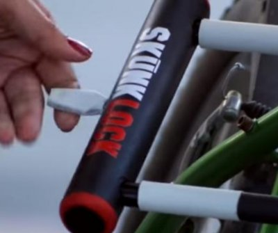 San Francisco inventor's bike lock designed to make would-be thieves vomit