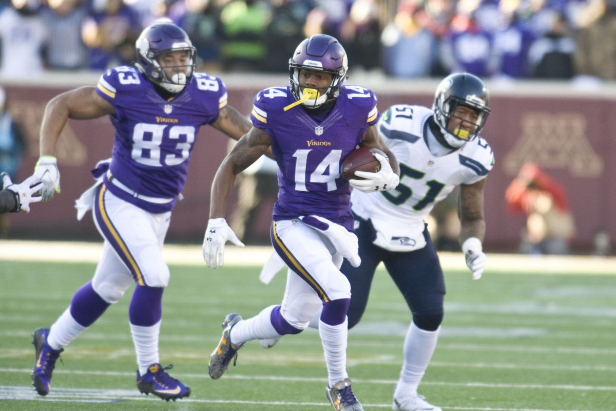 ... Jersey Nike NFL 14 Minnesota Vikings Road Sam Bradford 491435f07
