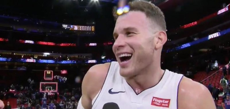 buy online 9966e 6b816 Watch: Detroit Pistons' Blake Griffin forgets jersey during ...