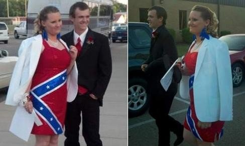 Girl barred from prom over Confederate flag dress