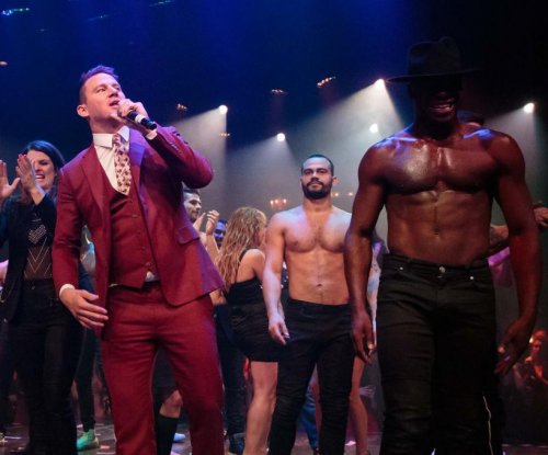 Channing Tatum, wife Jenna attend 'Magic Mike Live' premiere in Vegas