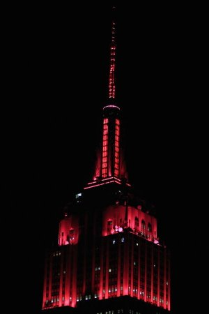 Empire State building glows red for Republican Senate victory