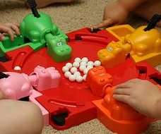 Soccer star breaks Hungry Hungry Hippos world record