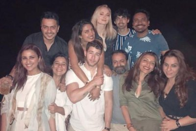 Priyanka Chopra, Nick Jonas party with family ahead of wedding
