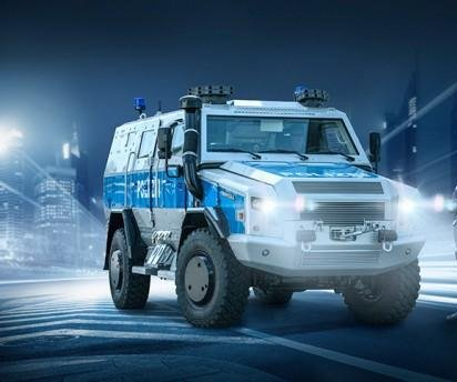 German police receive special operations vehicle