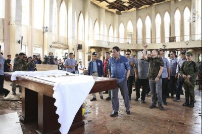 4 persons of interest interviewed in Philippines church bombing