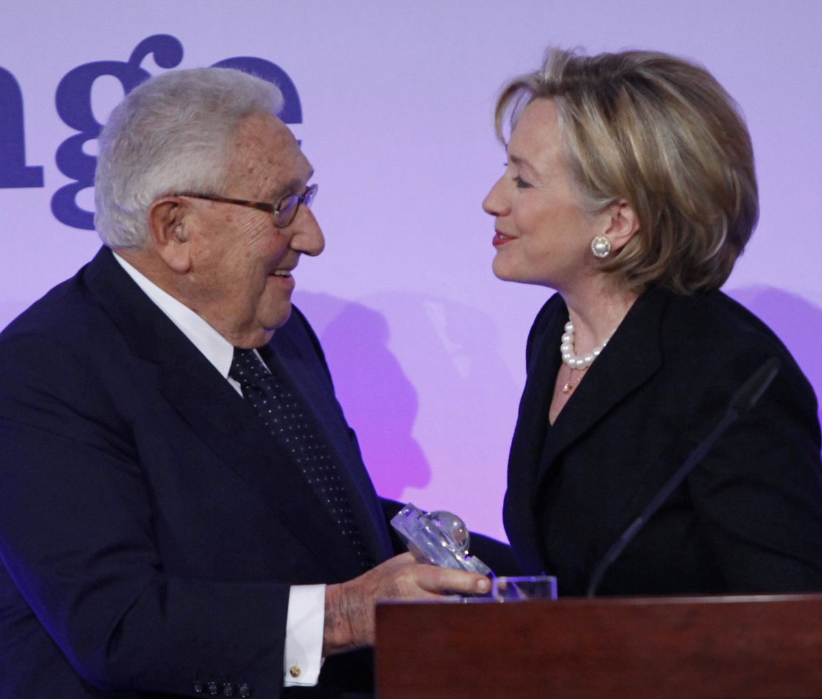 Image result for hillary and kissinger
