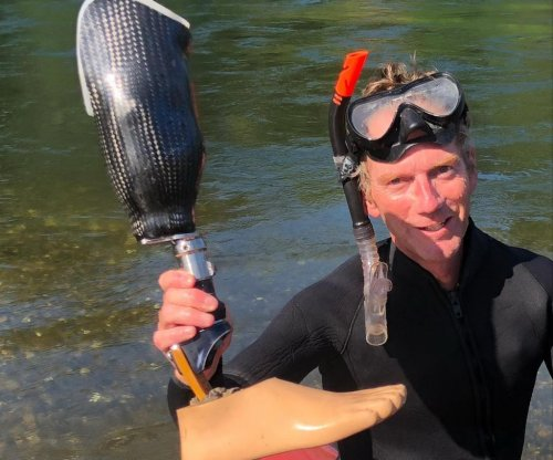 Prosthetic leg found in California river returned to owner