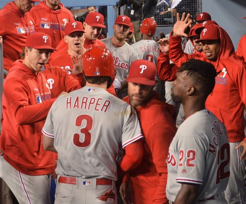 Bryce Harper's first walk-off hit for Phillies beats Dodgers