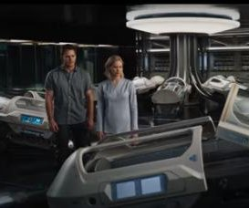 Trailer for upcoming Chris Pratt and Jennifer Lawrence flick 'Passengers' released
