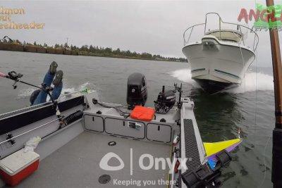 Fishermen abandon ship before motorboat crash