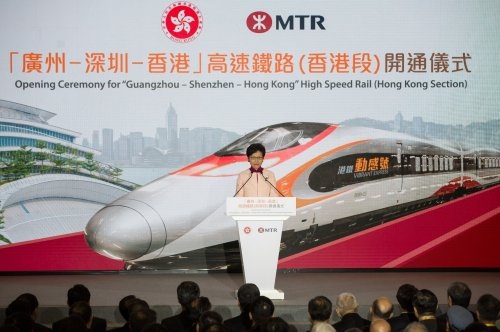 Hong Kong high-speed railway opens amid political concerns