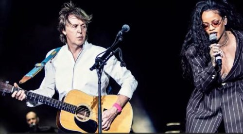 Rihanna joins Paul McCartney onstage for surprise performance of 'FourFiveSeconds'
