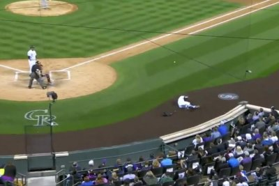 Colorado Rockies' Charlie Blackmon drilled in head with foul ball